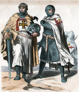 Nineteenth-century depiction of two Livonian Knights. Public Domain.
