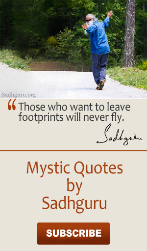 For more of Sadhguru's quotes, visit his website.