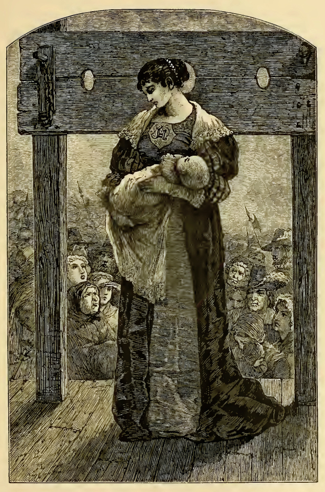 Engraving depicting Hester Prynne. (Public Domain)