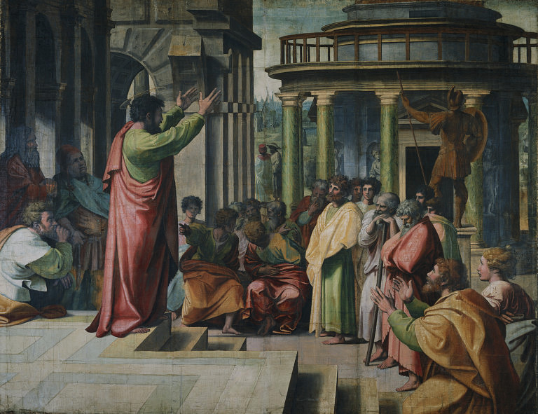 """St. Paul Preaching in Athens,"" Raphael"