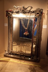 Vodou Mirror (Museum Exhibit) by quinet.  Source: Wikimedia Commons.