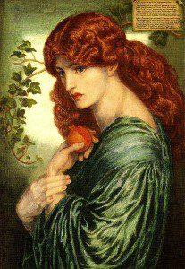 """Proserpina"" by Dante Gabriel Rossetti [Public domain], via Wikimedia Commons"