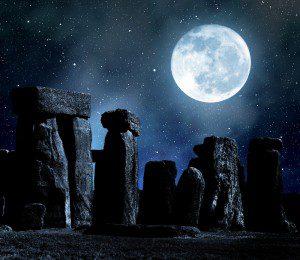 Stonehenge at night.  Image courtesy of Shutterstock.