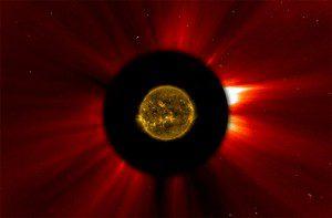 Extended Solar Corona Through an Ultraviolet Filter. Public domain image courtesy of NASA.