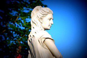 Roman Goddess Statue (public domain image).