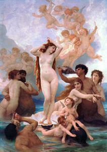 """The Birth of Venu"" by William Adolphe Bouguereau (1879). Public domain image."