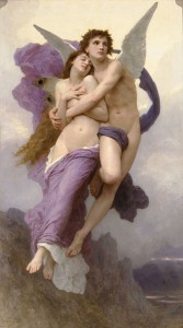 The abduction of Psyche by William-Adolphe Bouguereau 1895 (public domain image).
