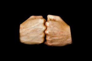 To Beat Two Fists by George Hodan (public domain image).