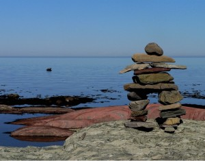Inukshuk by Imaginart. Public domain image.