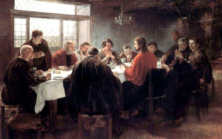 The Last Supper by Fritz von Uhde (Public Domain)