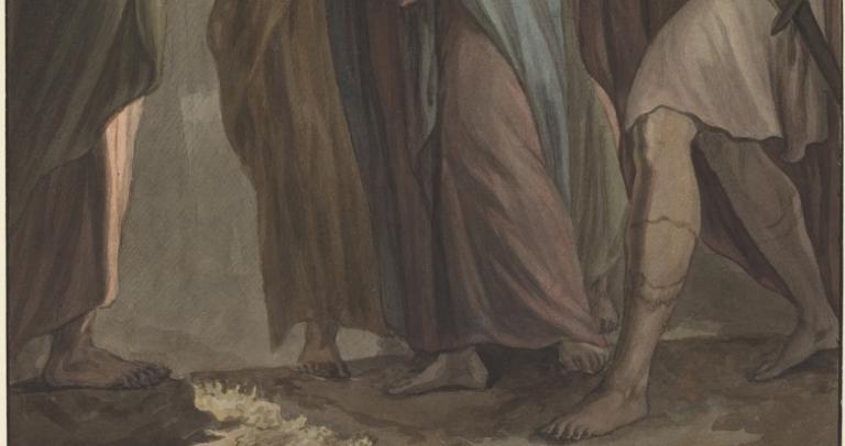 Christ with Apostles Walking