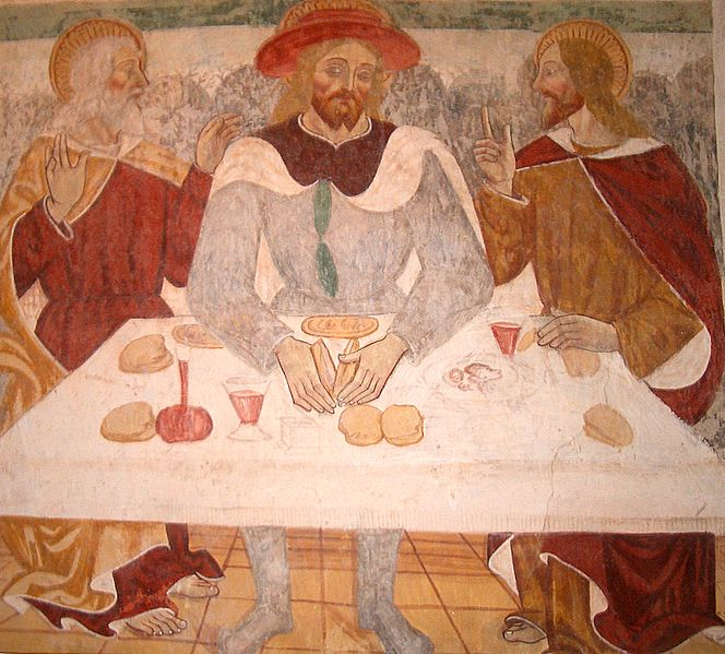 Supper at Emmaus, Giovanni and Francesco Cagnola (?), 15th c.