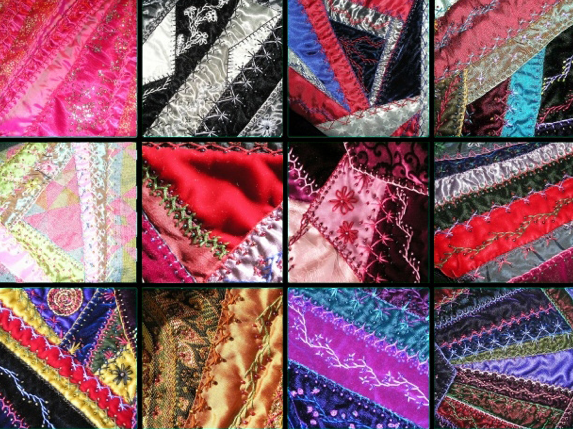 Crazy Quilt Mosaic via Flickr. By Buttersweet.
