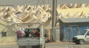 Syrian refugee camp on the Turkish border