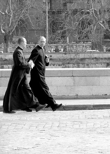Image: (Priests in Rome, Stefano Corso, Public Domain, Wikimedia Commons)