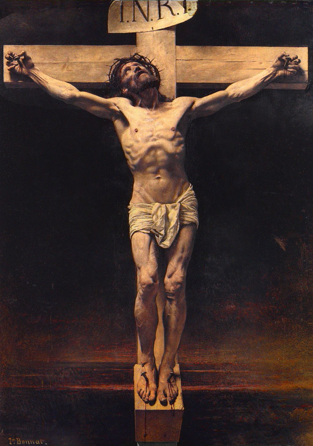 Christ on the Cross by Léon Bonnat, via Wikimedia Commons
