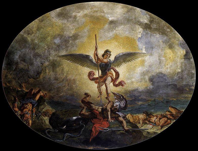784px-Eugène_Delacroix_-_St_Michael_defeats_the_Devil_-_WGA06220