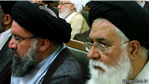 The one on the right is Alamolhoda and the left Ahmad Khatami. This the nicest that Kahatami has looked in his life.