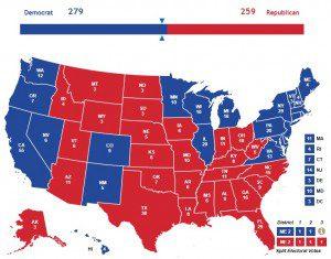 President Bernie Sanders map