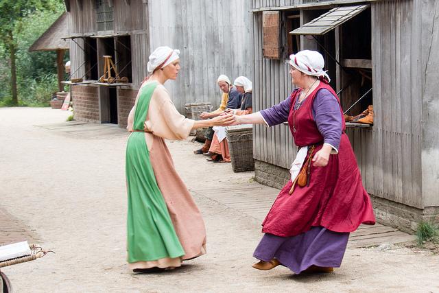 Medieval dancers.