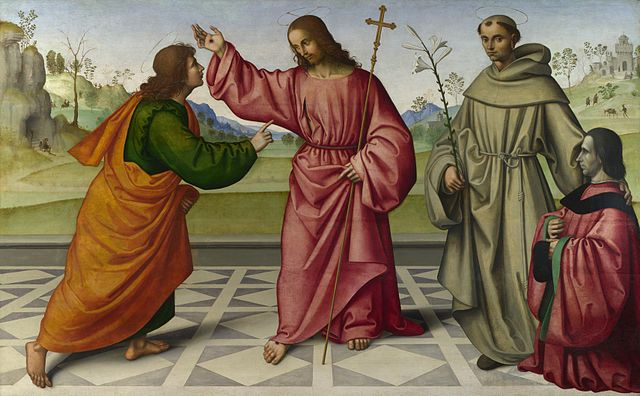 "Doubt is officially okay. (Credit: Giovanni Battista da Faenza - The Incredulity of Saint Thomas"" by Giovanni Battista da Faenza - [1]. Licensed under Public Domain via Wikimedia Commons."")"