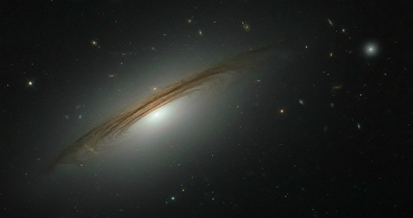 A galaxy nearly 400 million light years away from the Earth