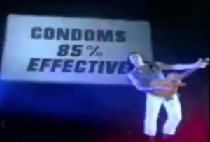 Michael Sweet condoms 85% effective