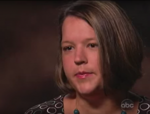 In 1997, 15-year-old Tina Anderson was raped and impregnated by a member of Chuck Phelps' Trinity Baptist Church. Image: ABC News/YouTube