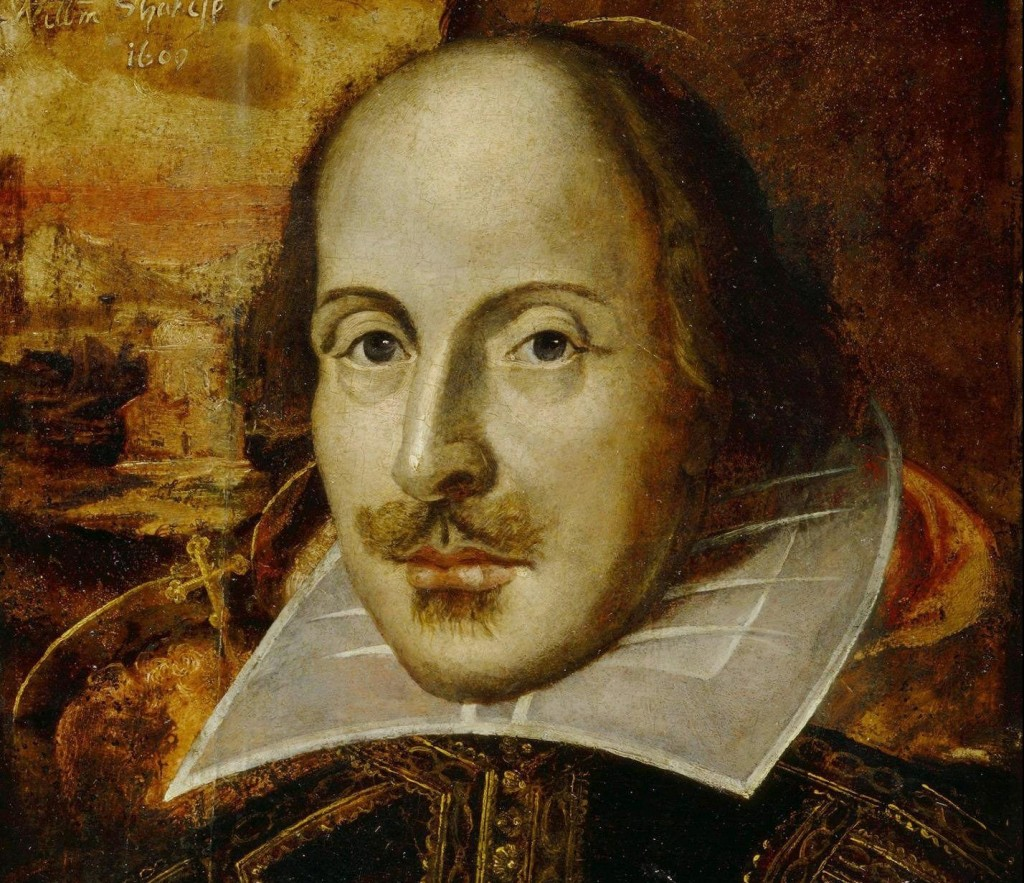 The Flower portrait of William Shakespeare. Artist Unknown. Public domain.