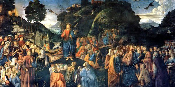 Sermon On The Mountwith the Healing of the LeperCosimo Rosselli, 1481