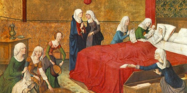 """The Birth of Mary,"" by Master of the Life of the Virgin / Wiki Commons"