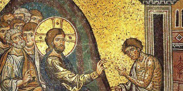 Jesus healing leper - WikiCommons Public Domain