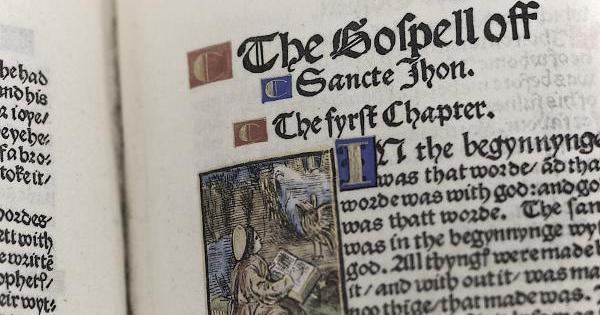 Tyndale's New Testament Translation 1525 (Public Domain Via WikiCommons)