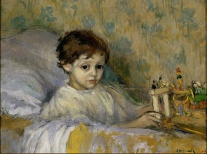 800px-Ricard_Canals_-_Sick_Child_(Octavi,_the_artist's_son)_-_Google_Art_Project