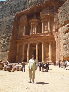 Standing in front of the Petra Treasury. Eat your heart out, Indiana Jones!