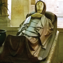 Life-size statue of Mary in the Church of the Dormition, Jerusalem. Photo by Marge Fenelon
