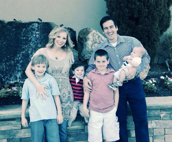 Dave Willis and Ashley Willis and sons family