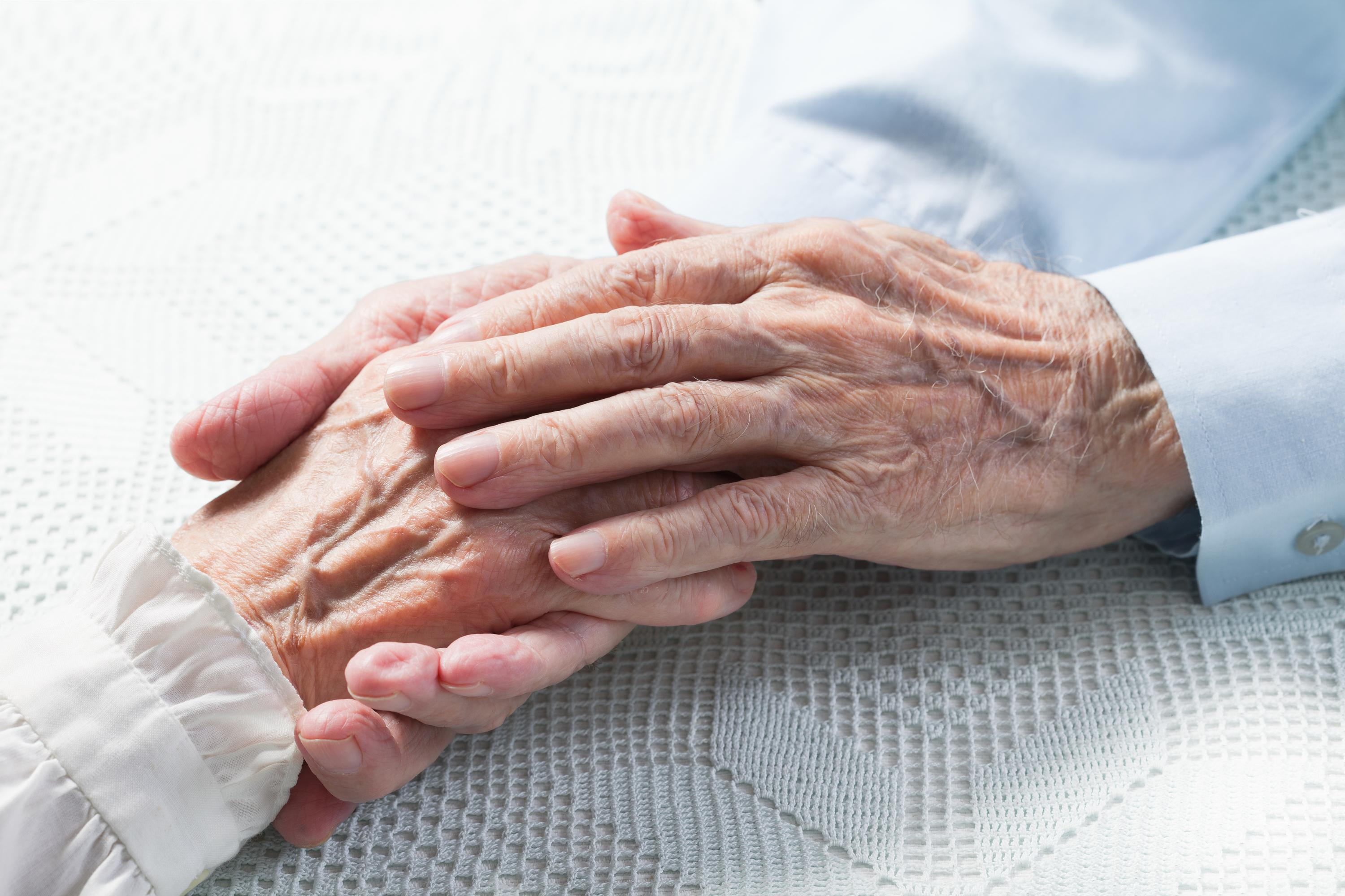 old couple hands