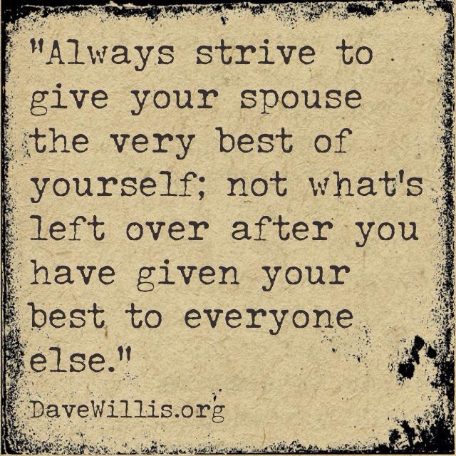DaveWillis.org Dave Willis marriage quote