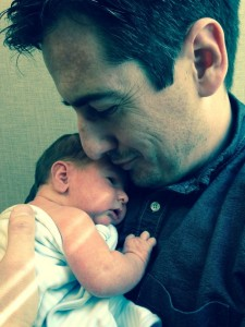 Dave Willis and newborn baby Chatham