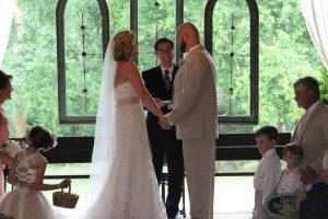 Dave Willis wedding marrying couple pastor
