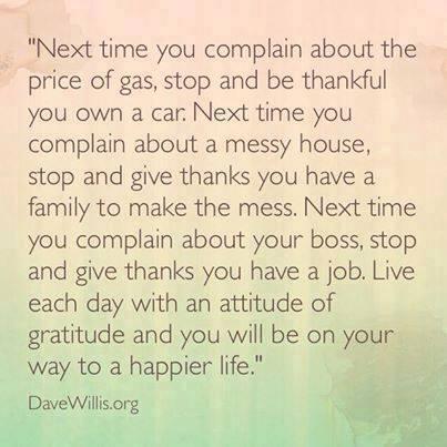 Dave Willis quote attitude of gratitude thankful