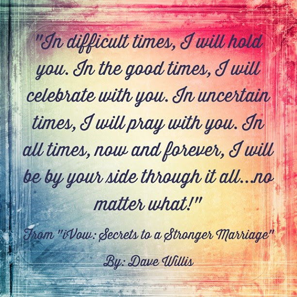 Dave Willis iVow book marriage quote