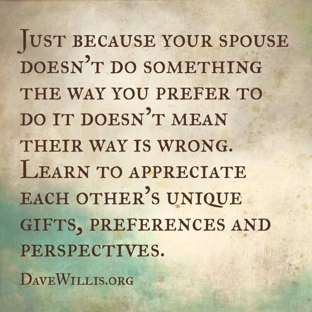Dave Willis marriage quote spouse preferences