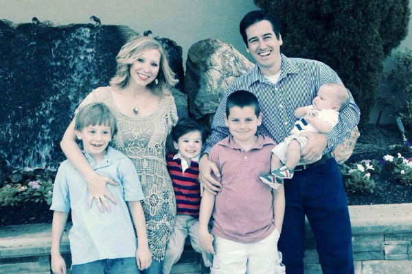 Dave and Ashley Willis and sons family