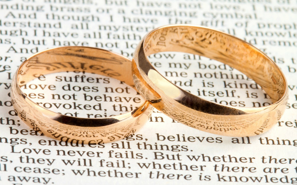 Bible wedding rings