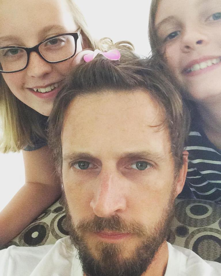 Kevin Lloyd and daughters