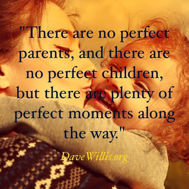 Dave Willis quotes davewillis.org there are no perfect parents or perfect children but there are perfect moments