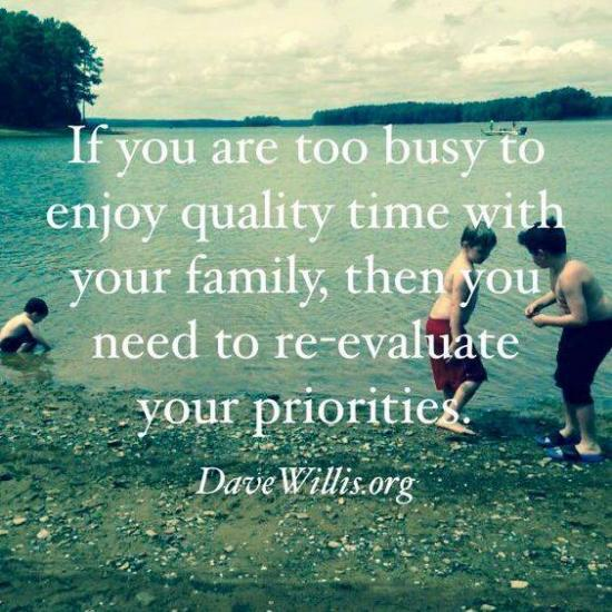 1. Your work ismaking you absent from your family OR always stressed around your family.