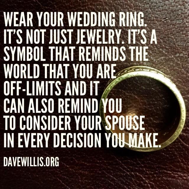 Not Wearing A Wedding Ring